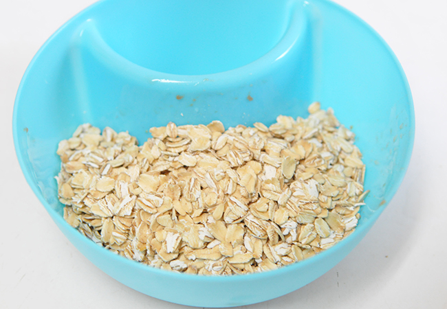 Oats My clean cutting board