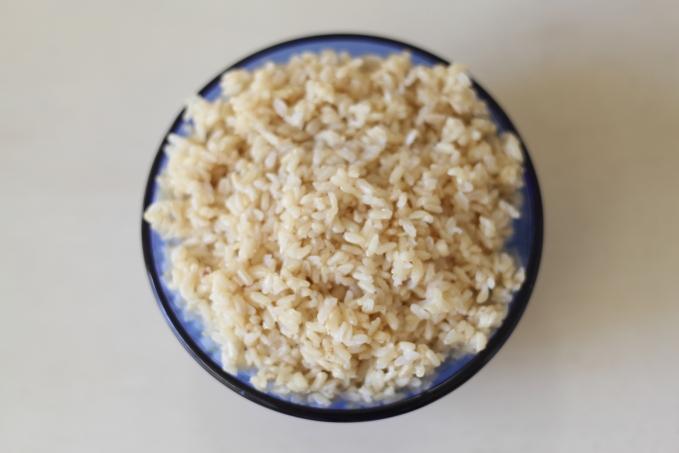 brown rice my clean cutting board