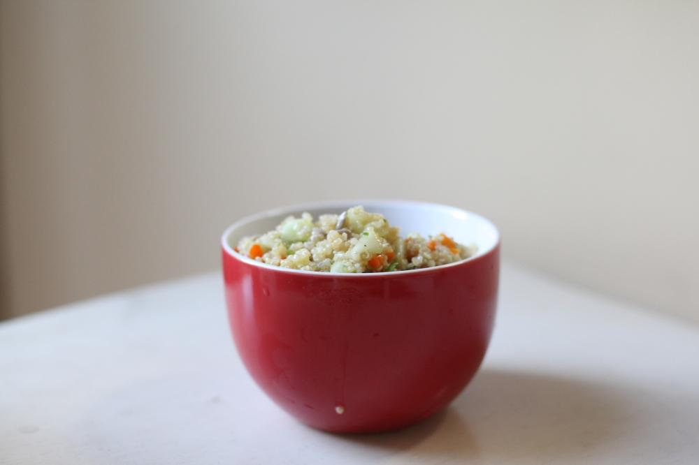 Quinoa salad bowl   my clean cutting board